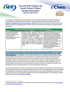 Security Risk Analysis Tip Sheet