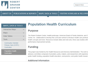 Population Health Curriculum