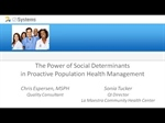 The Power of Social Determinants in Proactive Population Health Management Webinar