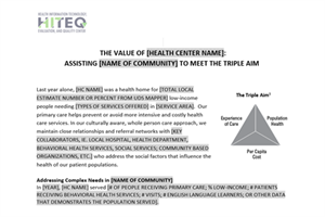 Health Center Value Proposition Template