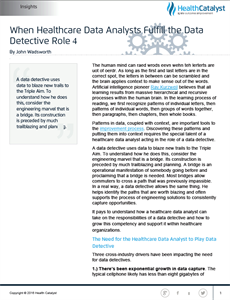 When Healthcare Data Analysts Fulfill the Data Detective Role