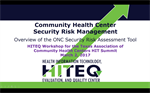 Security Risk Assessment Overview Presentation for Health Centers
