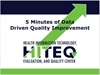 Five Minutes of Quality Improvement