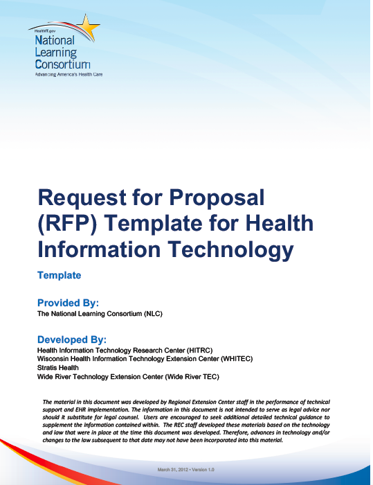 HITEQ Center - Request for Proposal Template for Health Information ...