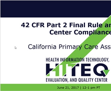 42 CFR Part 2 Final Rule and Health Center Compliance