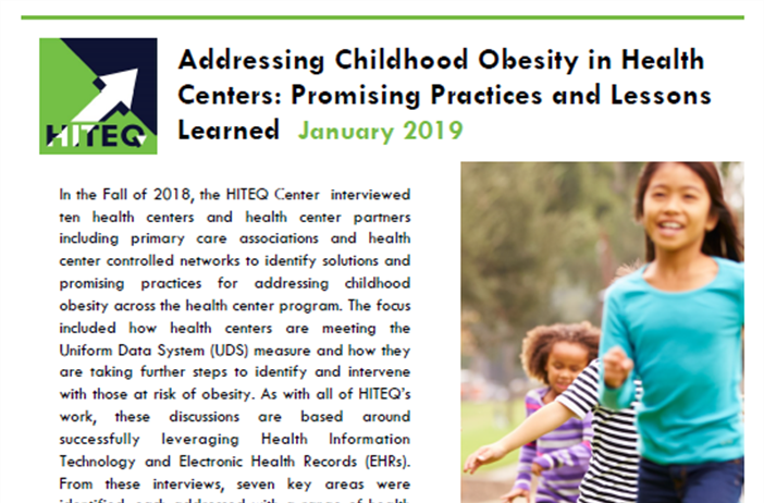 Addressing Childhood Obesity in Health Centers