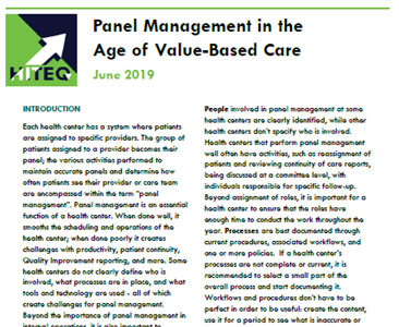 Panel Management in the Age of Value-Based Care