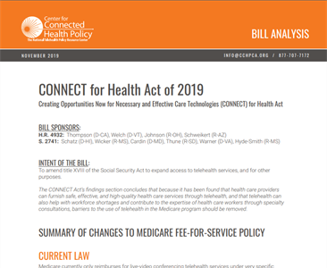 Bill Analysis of CONNECT for Health Act of 2019