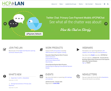 Health Care Payment and Learning Action Network (HCP-LAN) website
