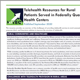 Serving Rural Patients with Telehealth: Resources and Tips for Federally Qualified Health Centers