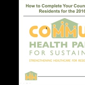 Webinar on Counting Public Housing Residents for the 2016 UDS Report