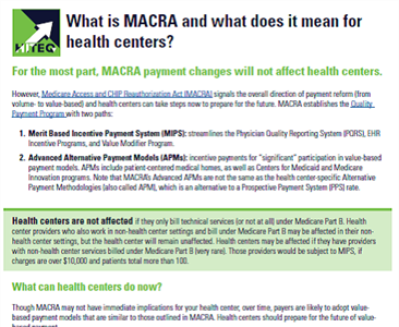 What MACRA Means for Health Centers