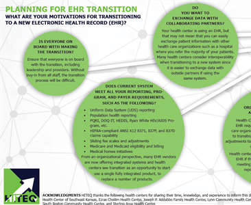 EHR Transition Tips – Motivation and Planning