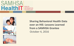 Sharing Behavioral Health Data over an HIE