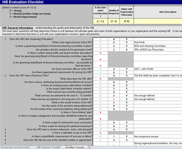 HIE Evaluation Checklist