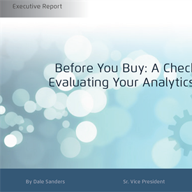 Before You Buy: A Checklist for Evaluating Your Analytics Vendor