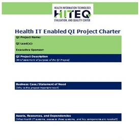 Health IT enabled Quality Improvement Project Charter