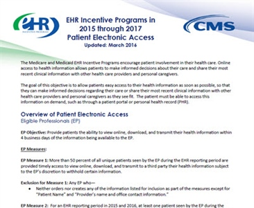 Guide for Patient Electronic Access Measures