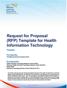 Hiteq Center Request For Proposal Template For Health Information