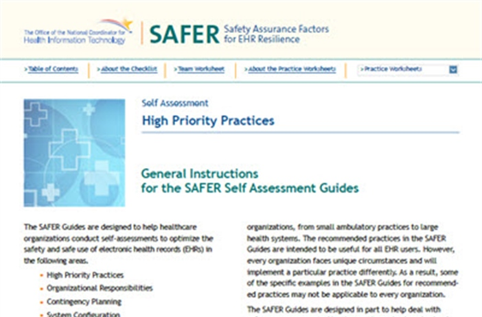 SAFER-1 High Priority Practices
