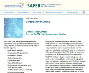 SAFER-3 Contingency Planning
