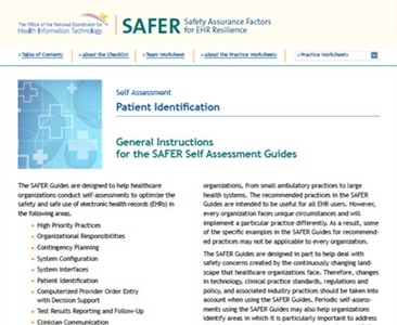 SAFER-6 Patient Identification