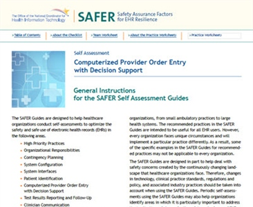 SAFER-7 Computerized Provider Order Entry with Decision Support